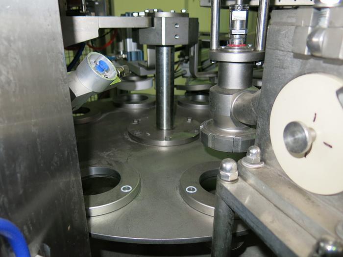 TREPKO 211KS ROTARY CUP/POT FILLING & CLOSING MACHINE