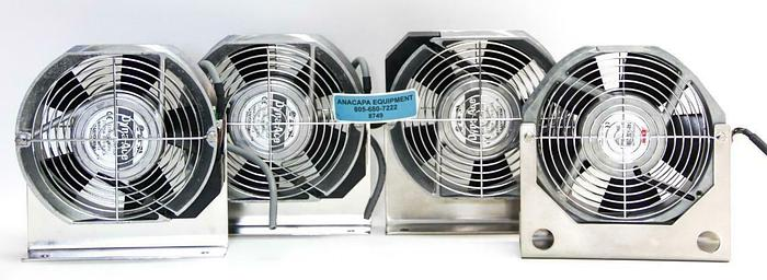 Used Sanyo Denki Dyna Ace 109S304 Cooling Fan Qty 3, Eti 148VK0272062 Qty 1 (8749)W
