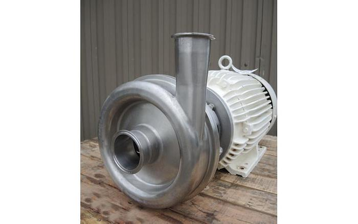 """USED CENTRIFUGAL PUMP, 3"""" X 2.5"""" INLET & OUTLET, STAINLESS STEEL, SANITARY"""