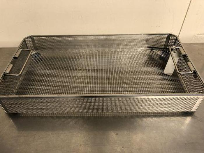 Used Aesculap Tray Sterilisation Stainless Steel 490 x 255 x 75mm FW604R