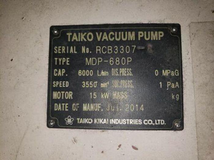 2015 TAIKO KIKAI VACUUM PUMP MODEL MDP-680P 20 HP