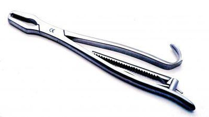 Used Forceps Bone Holding Kern Lane 9mm by 200mm (8in)