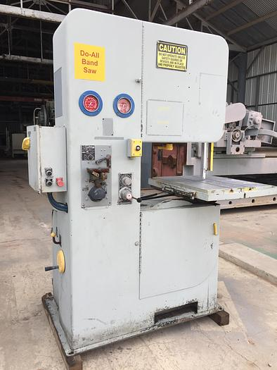 "Used 26"" DoAll Vert. Band Saw with Pwr. Feed Tbl"
