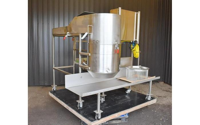 USED WHIRLWIND GRAVITY MILL, STAINLESS STEEL, VARIABLE SPEED