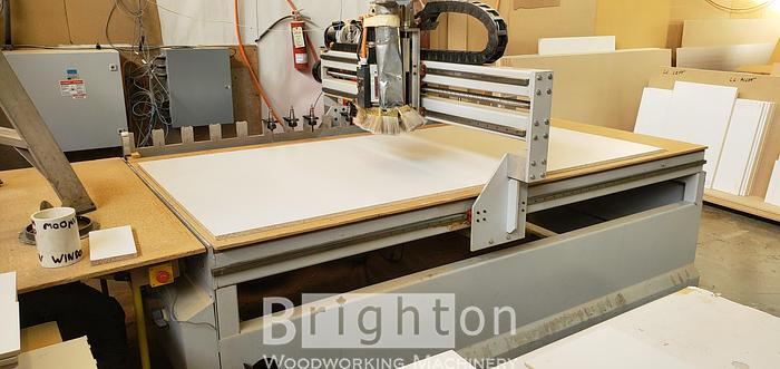 2010 Shop Sabre 4896 flat/nesting table CNC