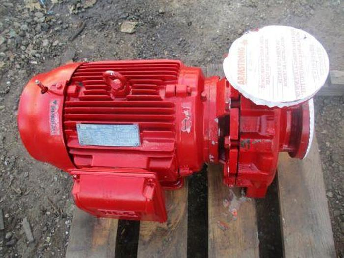 Used WEG PUMP MOTOR 3PH 15HP RPM 1765 MODEL 01518ET3E254JM-​W22 & ARMSTRONG
