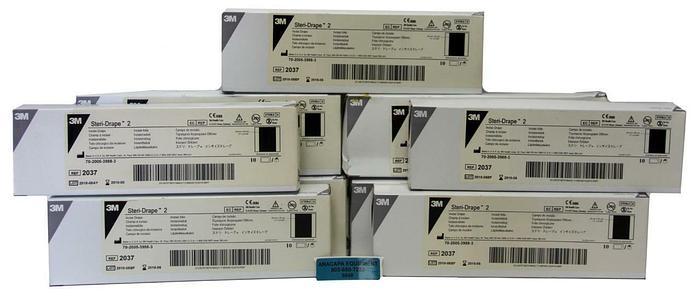 "3M Steri-Drape 2 2037 11""x 9 3/4"" Sterile Latex Free NEW Expired Lot Of 90 (6648"