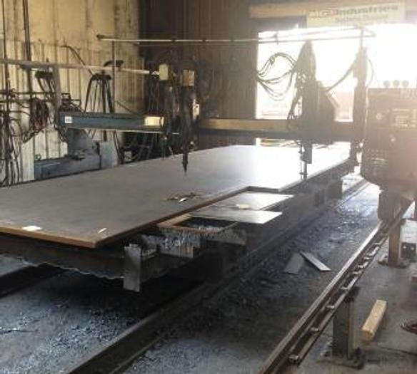 Used MG 12' x 24', 4 Oxy Torches, MG Systems 80 CNC