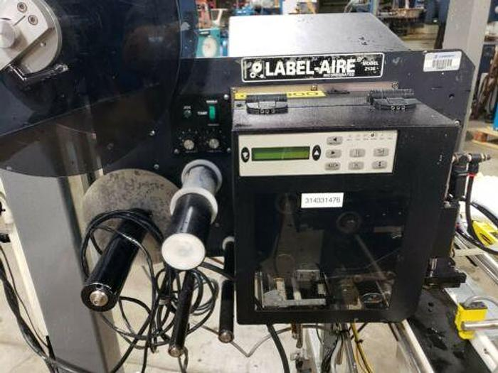 LABEL-TRONIX LABELING SYSTEM W/ LABEL-AIRE MODEL 2138 AND RELIANT 2700 FEEDER