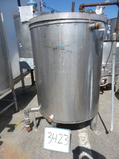 200 Gallon Vertical Stainless steel tank #3423