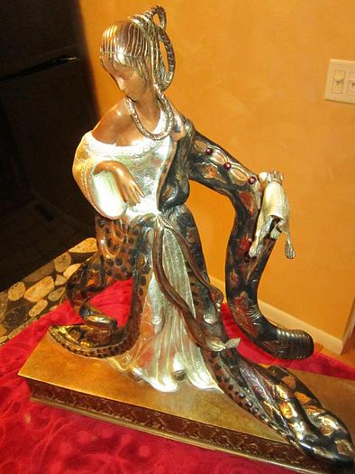Used Rigoletto Statue by Erte Father of Art Deco Number 341/375 Original Sculpture