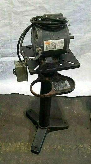 Used Pedestal Motor Mount with 1/2 HP Electric Motor 120V
