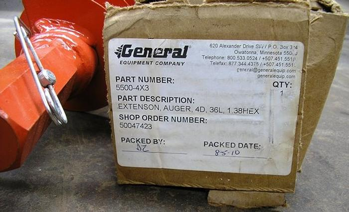 General Equipment Extension Earth Auger Part 5500-4x3