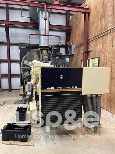 2 MW 2007 New Kohler 2250REOZDC Diesel Generator