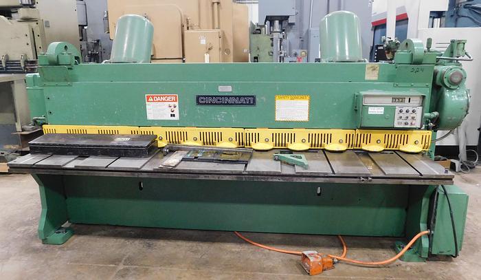 Used Cincinnati 10' x 1/4 Mechanical Shear 2CC10