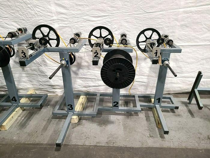 Used OK Coil Filament Feed Machine Model OK15 Triple Line Motorized Fiber Optic