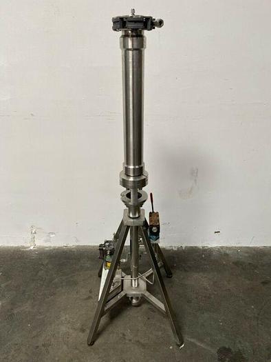 "Used Prochrom HPLC Stainless Steel Preparative Chromatography Column 3.5"" x 20"" 100 bar 1450 PSI"