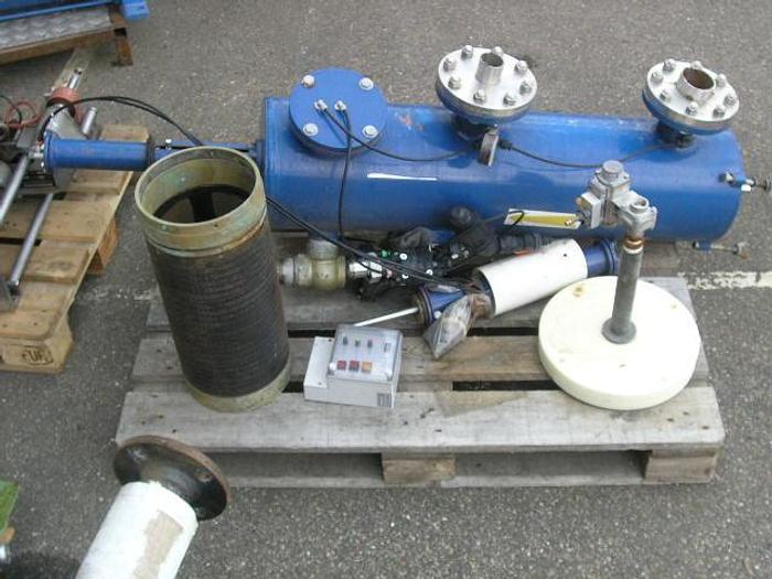 Used 261. FILTRATION LtD, Filtomat with pneumatick valves (4 piece) + GEFA, filter steering box, type CCU.