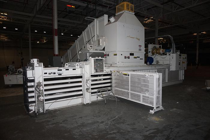 "Used HARRIS SELCO HORIZONTAL BALER MDL. HLO-8110AR75 10"" CYL. (CONVEYOR OPTIONAL)"