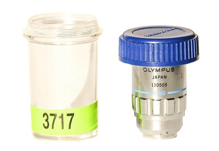 Used Olympus MSPlan 50 IC 50 Microscope Objective ULWD  0,55 F=180 (3717)