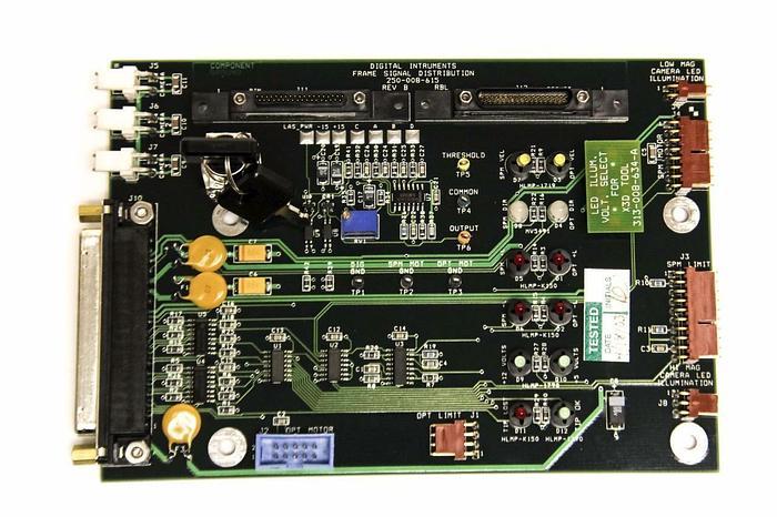 Used Veeco X3D Digital Instruments Frame Signal Distribution 250-008-615 Rev. B (4076