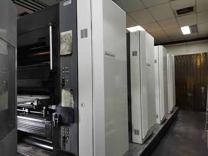 "Used 2008 Komori System 38 (4) Unit (1) Web Offset Press 578mm / 22.75"" cutoff"