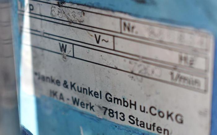 USED IKA T65 HOMOGENIZER