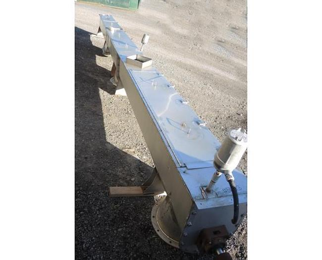 USED PADDLE CONVEYOR, 1' DIAMETER X 26' LONG, STAINLESS STEEL