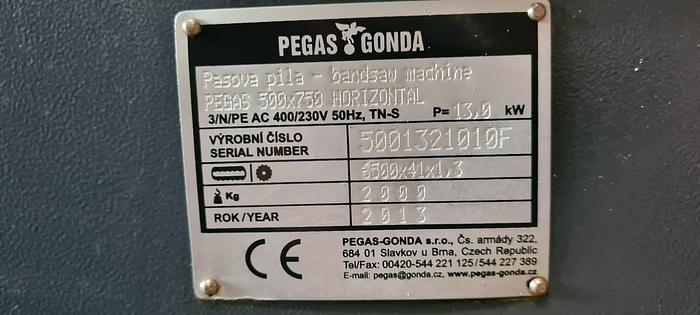 Piła taśmowa PEGAS GONDA 500X750