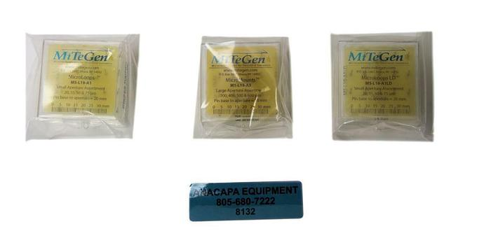 MiTeGen M1-L19-A3, M5-L19-A1LD, ML-L19-A1 MicroLoops, New Lot of 3 (8132)W