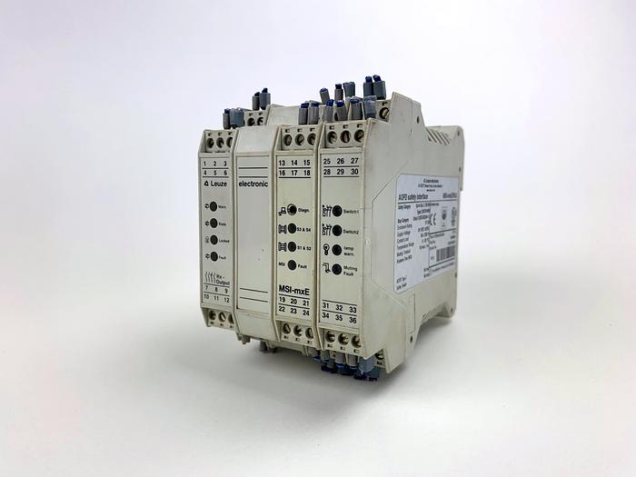 Used LEUZE  Lumiflex MSI-MXE Safety Relay