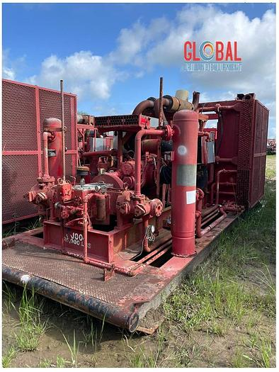 """Used Sullair 900/350 Air Compressor & Ariel JPG/2 2-3/4"""" x 3-1/4"""" Booster Combination"""