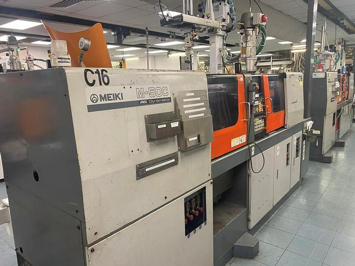 Used 2000 Meiki M-50C-AS-DM Injection Moulding Machine