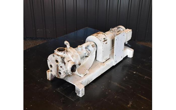 "USED VIKING GEAR PUMP, 2"" X 2"" INLET & OUTLET, CAST IRON, JACKETED"