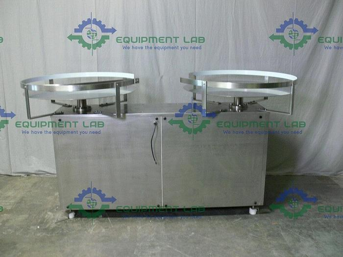 """Used Stainless Steel Dual 36"""" Diameter Accumulation / Feeding Production Turntable"""