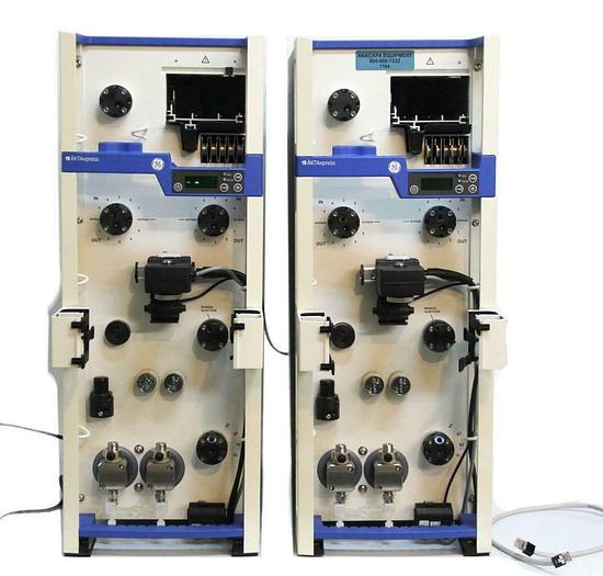 Used GE Healthcare 11001284 Twin ÄKTAxpress FPLC Chromatography System w/ Valves 7164
