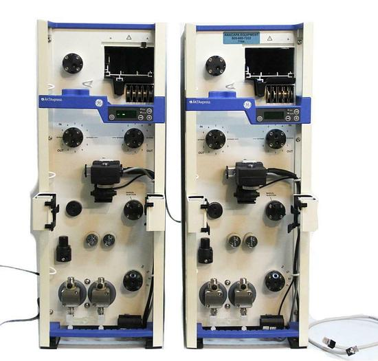 Used GE Healthcare 11001284 Twin ÄKTAxpress FPLC Chromatography System 7164