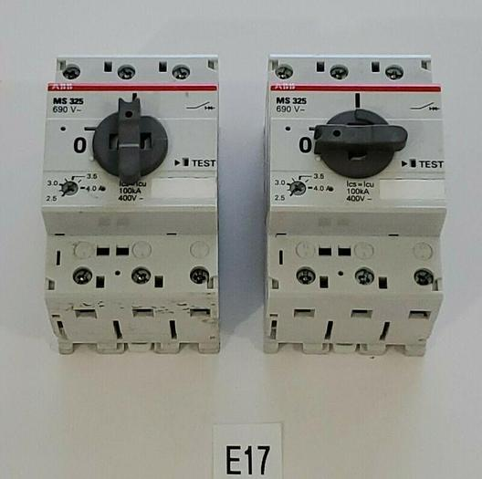 Used *PREOWNED* LOT OF 2 ABB MS 325 690 V Manual Motor Starter 3 Pole + Warranty!