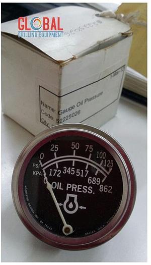 B&H 0015 - Gauge Oil Pressure, 0-125PSI