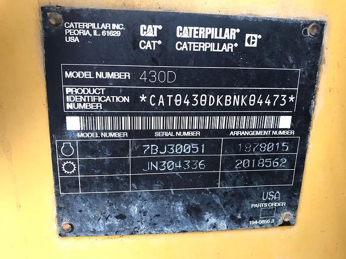 2004 CATERPILLAR 430D