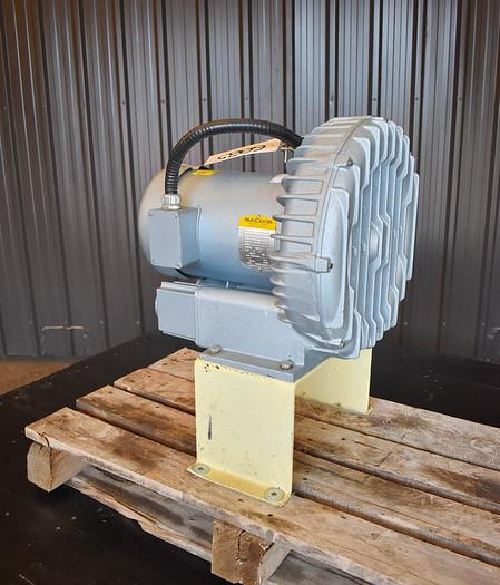 Used USED GAST REGENERATIVE BLOWER, 207 CFM, 2'' INLET & OUTLET