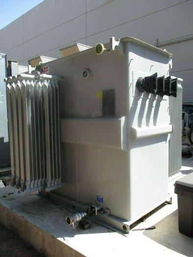 Used ABB 2500/ KVA 13800 TO 480Y/277 VOLTS OIL INSULATED UNIT SUBSTATION TRANSFORMER