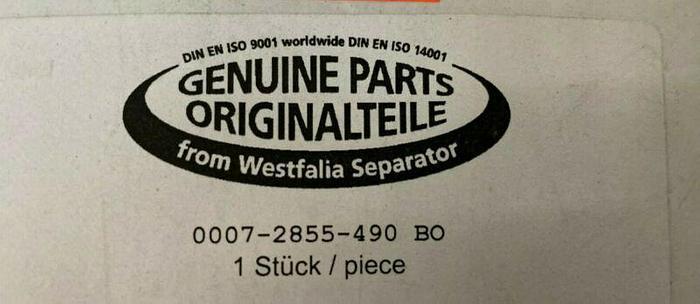 "Used Genuine Parts Originalteile 0007-2855-490 BO 10.5"" D x .25"" H Gasket"