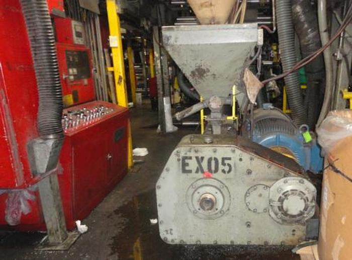 """Used 3 1/2"""" GEC air cooled 24:1 extruder, AC drive & panel. Mfg 1985"""