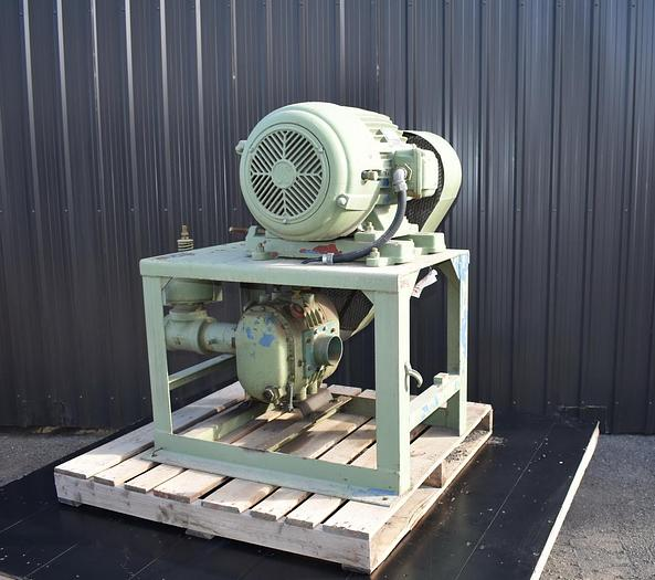 """Used USED ROTARY LOBE BLOWER, 200 CFM, 4"""" INLET & OUTLET"""