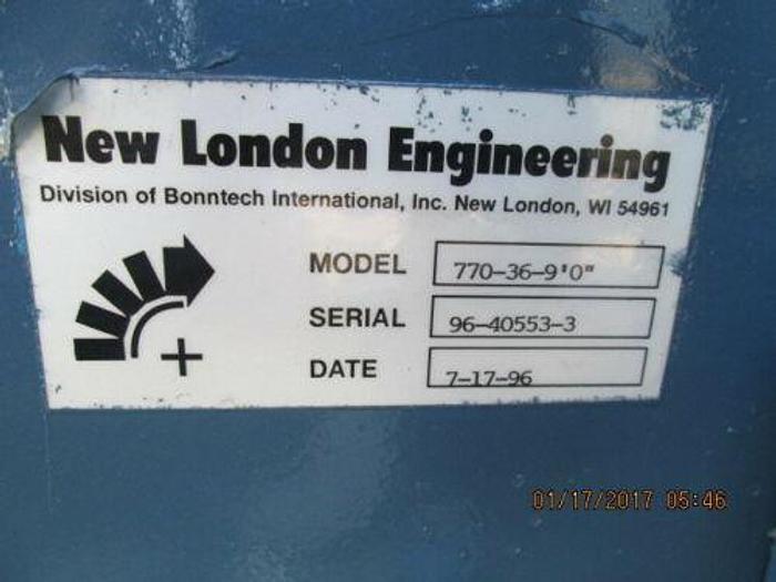 """LONDON ENGINEERING MODEL 770-36-9'0"""" HEAVY DUTY SLAT CONVEYOR 36"""" X 9 FOOT"""