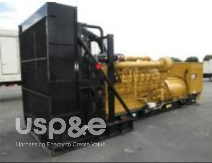 Used 2.25 MW 2018 USED CATERPILLAR 3516C HD DIESEL GENERATOR SET