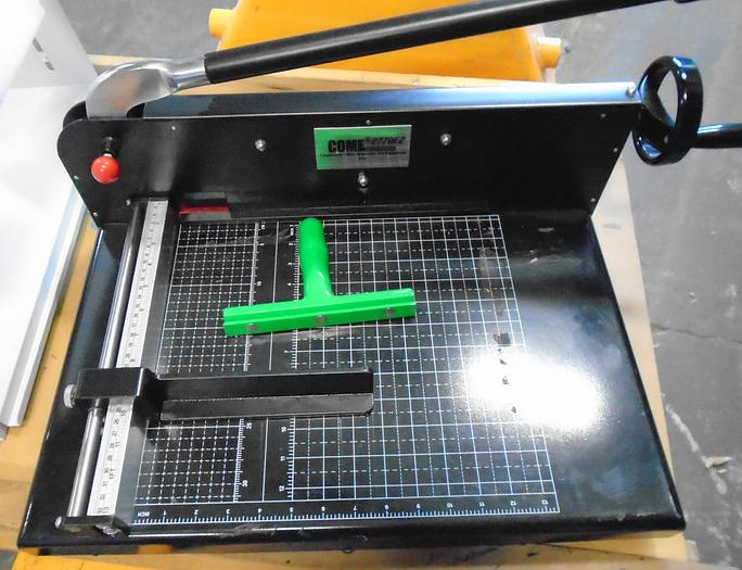 "Used Guillotine Desktop Stack Paper Cutter COME-2770EZ - 12"" Cutting Width"