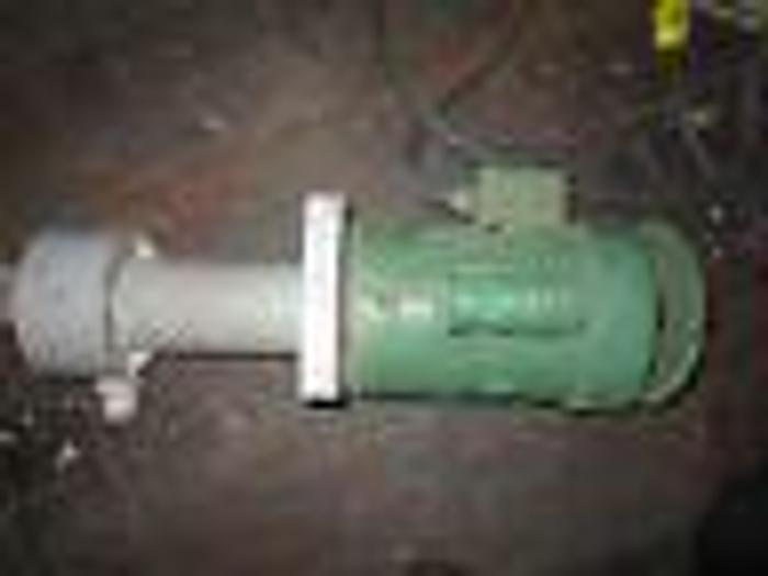 Used Chemical Filter Pump cleans solutions in tank