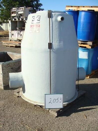 Used CSC Custom Structures Corporation Fiberglass Water Flow Measuring Tank